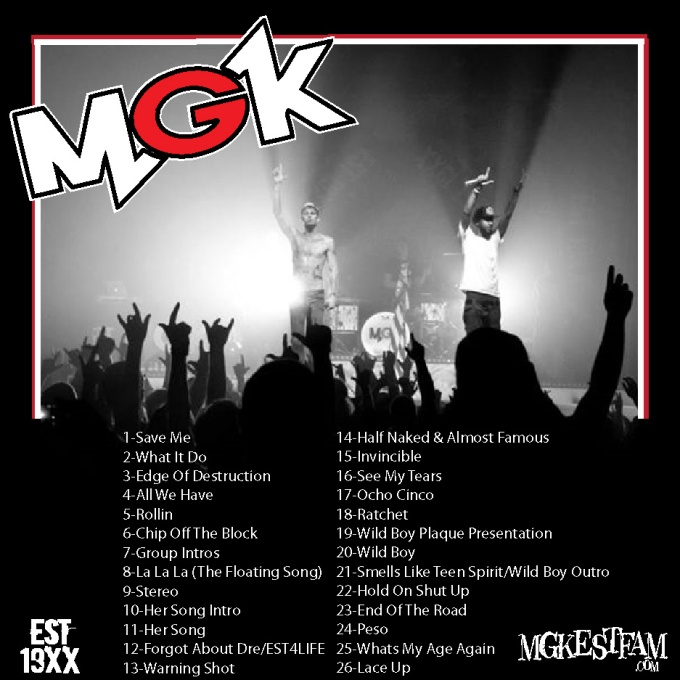 MGK -Live In Concert (Presented by MGKESTFAM) Back