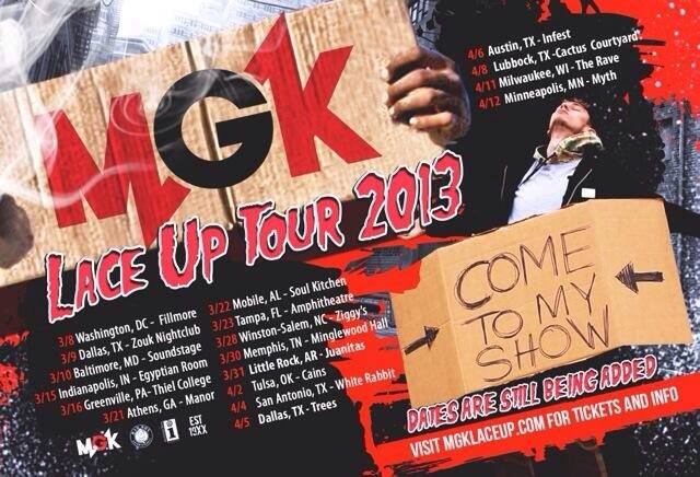 Mgk tour dates