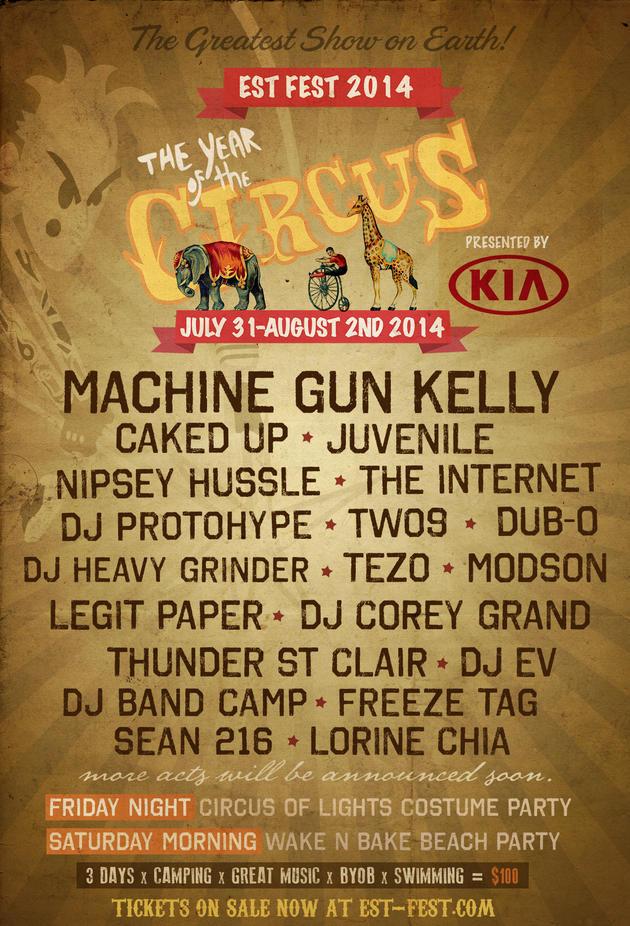 MGK TOUR DATES (2009 – Present)  
